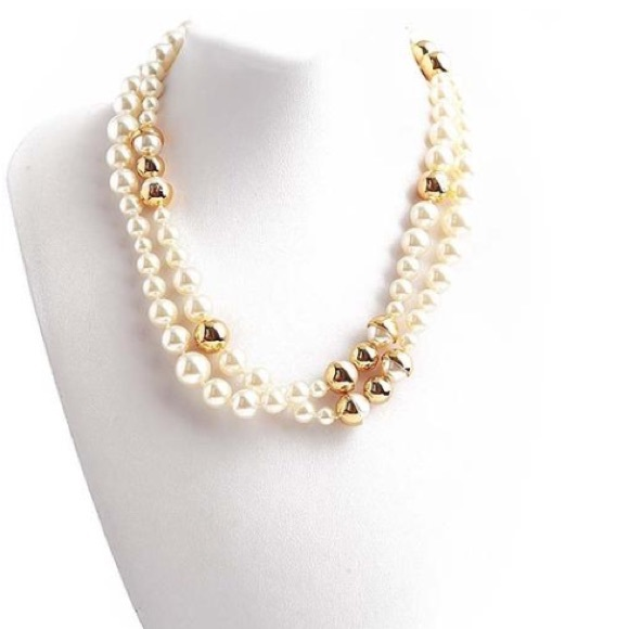 f7345f1fa3e38d NWOT Tory Burch Crystal Pearl Long Necklace. M_5b5e4fc20945e0a9f337253d
